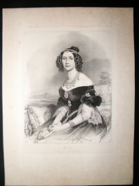 After Joseph Stieler C1840 LG Folio Print. Maria Anna of Bavaria & Saxony